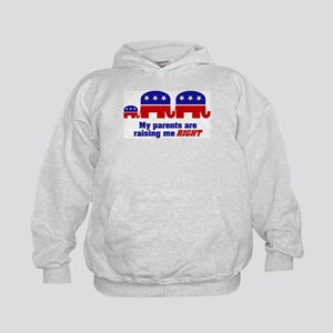 Parents are Raising Me Right Kids Hoodie