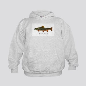 Painting of Brook Trout Kids Hoodie