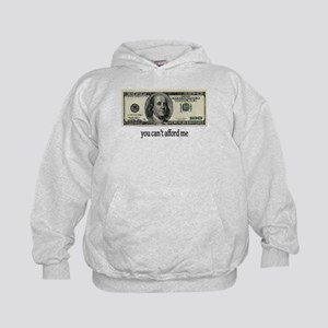 You Cant Afford Me Kids Hoodie