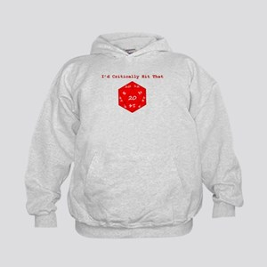 I'd Critically Hit That - Red Kids Hoodie