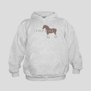 Clydesdale Horse Kids Hoodie