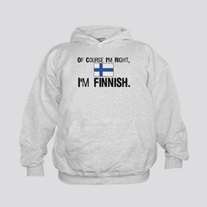 Of course I'm Right Finnish Kids Hoodie