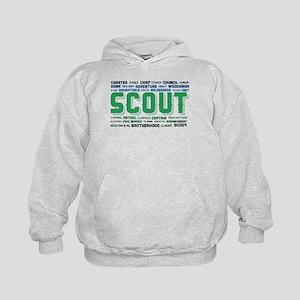Scout Word Cloud Kids Hoodie