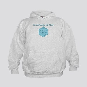 I'd Critically Hit That - Blue Kids Hoodie