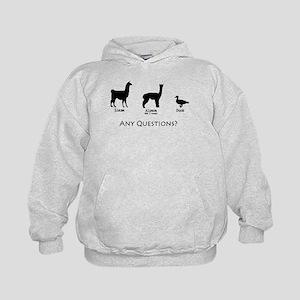 Llama, Alpaca, Duck... Any Qu Kids Hoodie