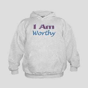 I Am Worthy Kids Hoodie