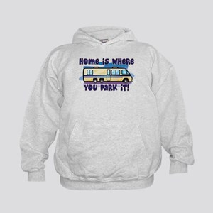 HOME IS WHERE YOU PARK IT! Kids Hoodie