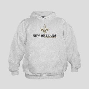 New Orleans Louisiana gold Kids Hoodie