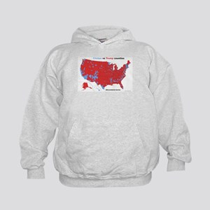 Trump vs Clinton Map Kids Hoodie