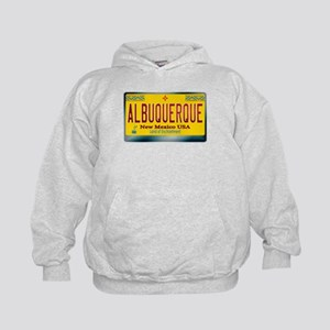 """ALBUQUERQUE"" New Mexico License Plate Kids Hoodie"