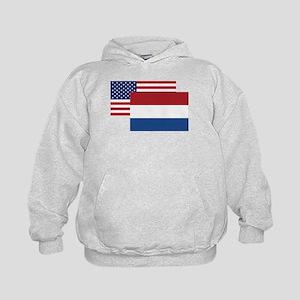 American And Dutch Flag Hoodie