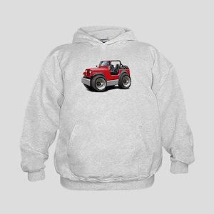 Jeep Red Kids Hoodie