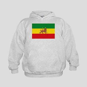 Ethiopia Flag Lion of Judah Rasta Reggae Hoodie