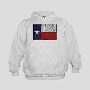 Texas Retro State Flag Kids Hoodie