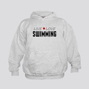 Live Love Swimming Kid's Hoodie