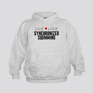 Live Love Synchronized Swimming Kid's Hoodie