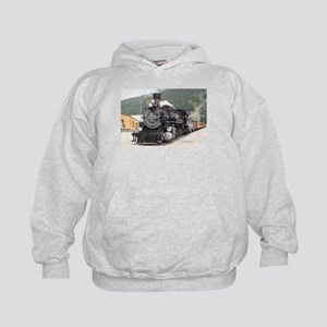 Steam train engine Silverton, Colorado Kids Hoodie