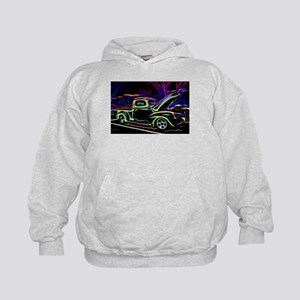 1940 Ford Pick up Truck Neon Hoodie