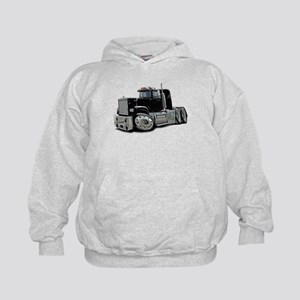 Mack Superliner Black Truck Kids Hoodie