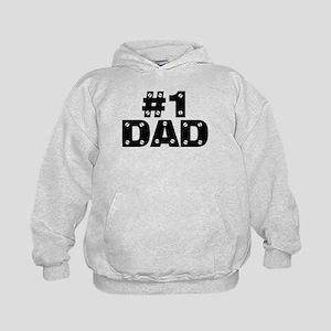 #1 Dad Kids Hoodie
