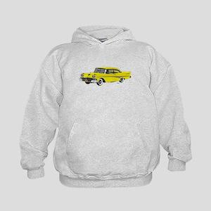 1958 Ford Fairlane 500 Yellow Kids Hoodie