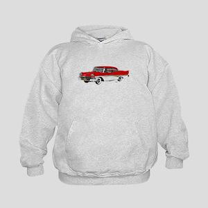 1958 Ford Fairlane 500 Red & White Kids Hoodie