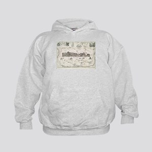 Vintage Map of The White Mountains (18 Kids Hoodie