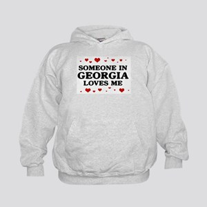 Loves Me in Georgia Kids Hoodie
