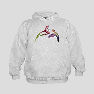 Hummingbird in flight Kids Hoodie