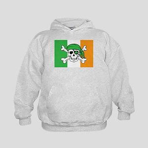 Irish Jolly Roger - Pirate Flag Kids Hoodie