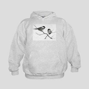 chickadee song bird Kids Hoodie