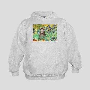Irises / Tiger Cat Kids Hoodie