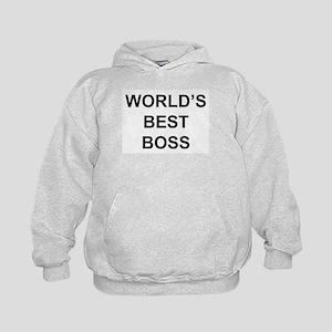 """World's Best Boss"" Kids Hoodie"
