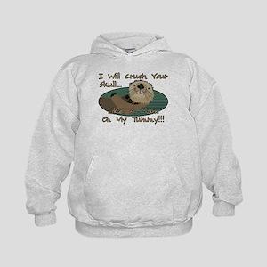 Otter Skull Crush Kids Hoodie