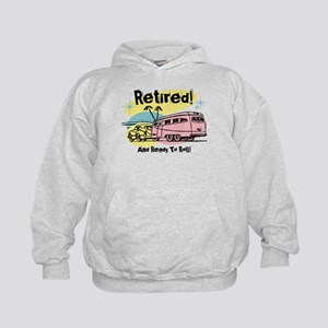 Retro Trailer Retired Kids Hoodie