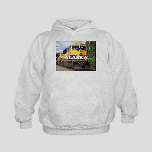 Alaska Railroad engine locomotive 2 Kids Hoodie