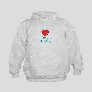 I Love My Abba Kids Hoodie