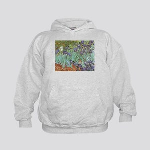 Van Gogh Irises Kids Hoodie