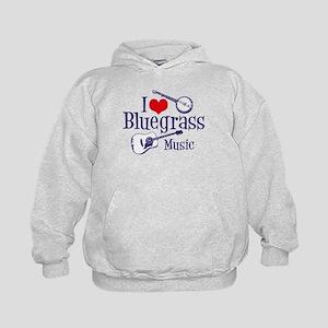 I Love Bluegrass Kids Hoodie