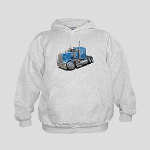 Kenworth W900 Lt Blue Truck Kids Hoodie