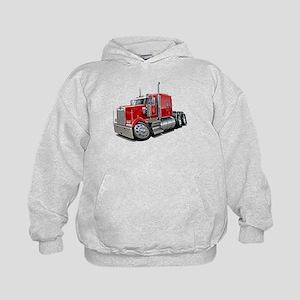Kenworth W900 Red Truck Kids Hoodie
