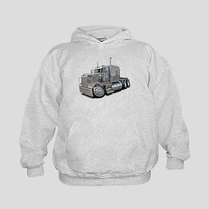 Kenworth W900 Silver Truck Kids Hoodie