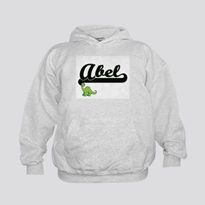Abel Classic Name Design with Dinosaur Kids Hoodie