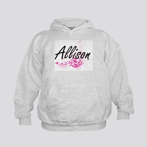 Allison Artistic Name Design with Flow Kids Hoodie
