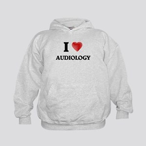 I Love Audiology Kids Hoodie