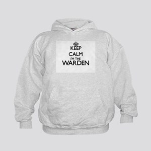 Keep calm I'm the Warden Kids Hoodie