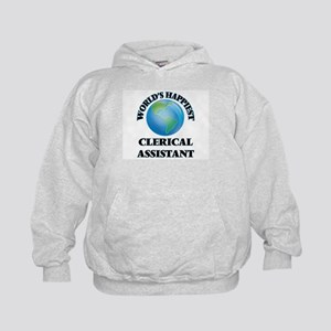 World's Happiest Clerical Assistant Kids Hoodie