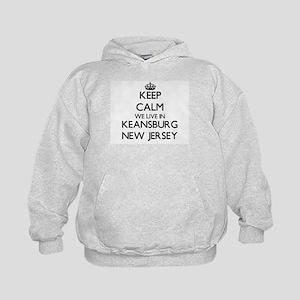 Keep calm we live in Keansburg New Jer Kids Hoodie