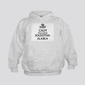 Keep calm you live in Soldotna Alaska Kids Hoodie