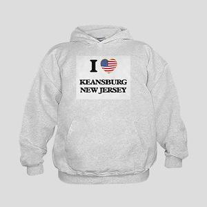 I love Keansburg New Jersey Kids Hoodie
